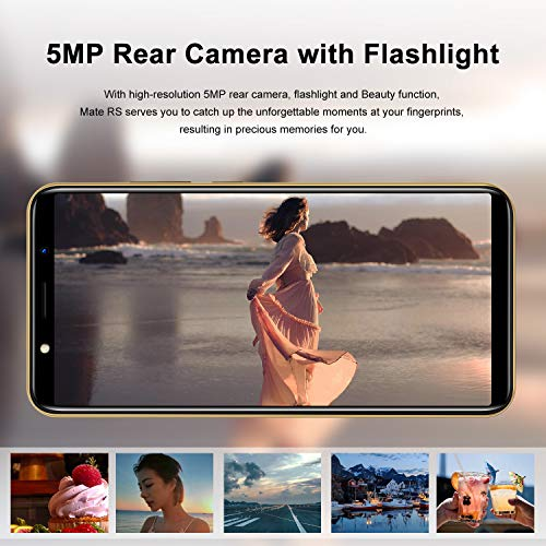 SIM Free Mobile Phone,XGODY Mate RS Dual SIM 3G Unlocked Smartphones, Android 8.1 Cellphone with 6 inch qHD Screen,5MP Dual Cameras + 8GB ROM(Gold)