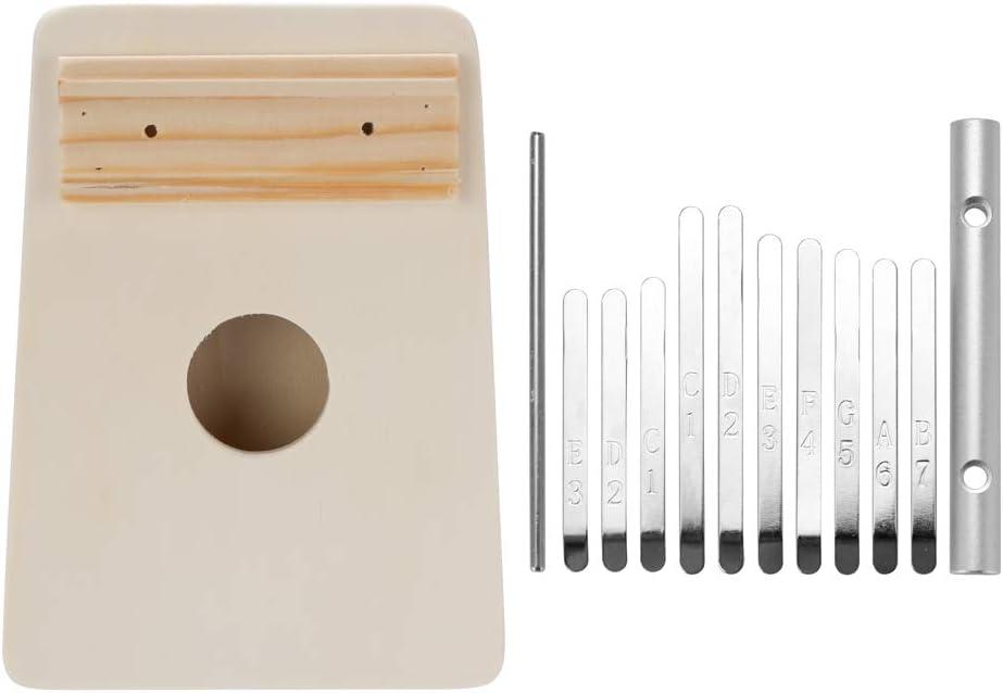 Kalaok Montaje simple Kalimba Trabajo hecho a mano Kit de bricolaje Madera Dedo pulgar Piano para ni/ños Ni/ños Instrumento musical