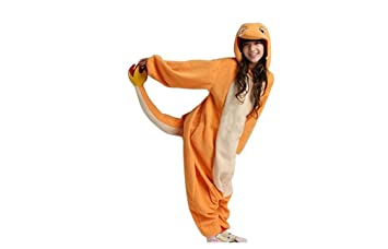 Charmander Adult Men Women Unisex Animal Sleepsuit Kigurumi Cosplay Costume  Pajamas Outfit Nonopnd Nightclothes Onesies Halloween 89278c9156880