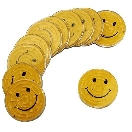 12 Pieces per Pack Great Party Favor or Activity Dazzling Toys Smiley Maze Game