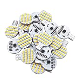 Glming T10 LED Light Bulb 921 194 192 C921 24-3528 SMD Super Bright Lamp DC 12V 2.5 Watt For Car RV Boat Ceiling Dome Interior Lights Warm White (2nd Generation) Pack of 20