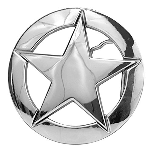 (Buckle Rage Adult Unisex Deputy Ranger Star Badge Vintage Belt Buckle Silver)