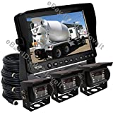 "9"" REAR VIEW BACKUP CAMERA SYSTEM CCTV FOR SKID STEER,RV, FORKLIFT, TRACTOR, BOX TRUCK"