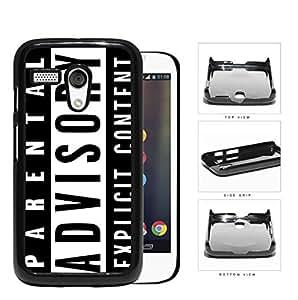 Parental Advisory Explicit Content Hard Plastic Snap On Cell Phone Case Motorola Moto G