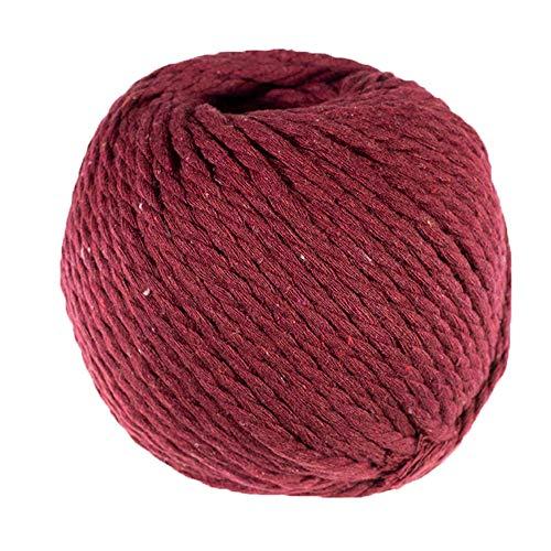 Macrame Cord (Wine Red, 4 MM x 50 Meters) - Soft Twine