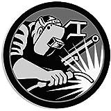 ROUND Hardhat Sized WELDER Logo Sticker (welding weld)