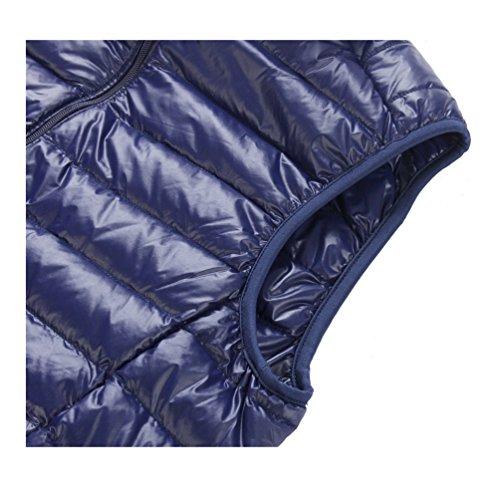 de cuello breve párrafo 05 down caliente abrigo recta chaleco ligero la mantener Chaquetas cremallera macho YFxTqdY
