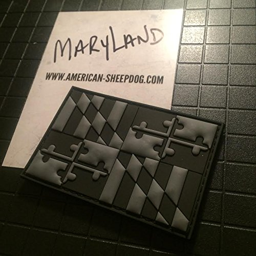 MARYLAND STATE FLAG PVC PATCH - GHOST EDITION