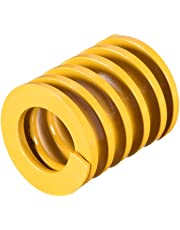 uxcell® 25mm OD 30mm Long Spiral Stamping Light Load Compression Mould Die Spring Yellow