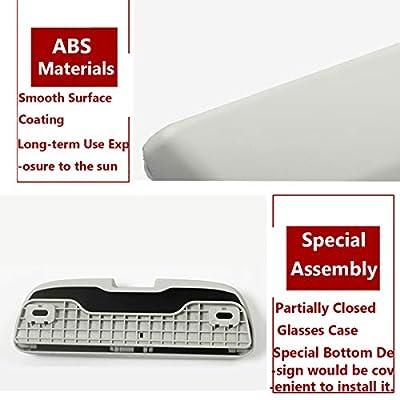 TTCR-II Interior Glasses Case for Audi Porsche, Eyewear Box Holder Fits Audi A1 A3 A4 A5 A6 S3 S5 S7 Q3 Q5 Q7 2012-20120 Porsche Cayenne 2020-2020 Panamera 2020-2020 VW Touareg 2020-2020(Light Grey): Automotive