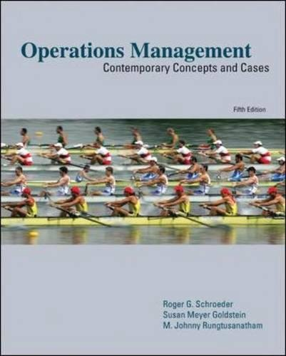 Operations Management:  Contemporary Concepts and Cases (Mcgraw-hill/Irwin Series Operations and Decision Sciences)