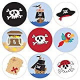 Pirate Birthday Party Favor Stickers - 180 Labels