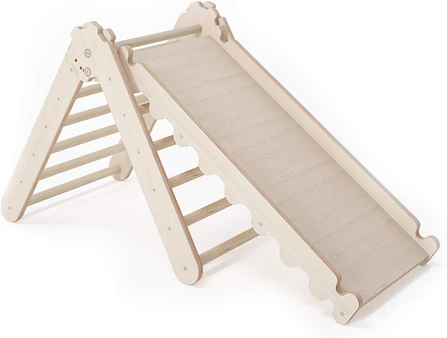MAMOI triángulo de escalada balancín de madera materiales naturales Quadro tobogán de deslizamiento de madera de pino triángulo Triangle gym interior ...
