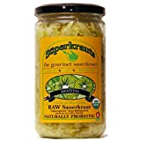 """Mojito"" gourmet sauerkraut: organic, raw fermented, unpasteurized, probiotic, kosher, vegan and gluten free. 24 fl. oz, 16 flavors available. No shipping charges with minimum."