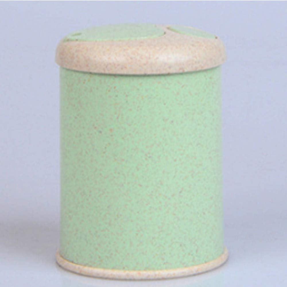 contenedor de paja de trigo para el hogar caja de almacenamiento para palillos de dientes azul Soporte autom/ático para palillos de dientes