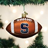 Old World Christmas Syracuse University Football Glass Blown Ornament