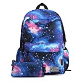 Artone Blue Universe Casual Daypack with Galaxy Pencil Case Set