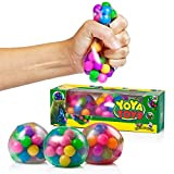 DNA Stress Ball by YoYa Toys- 3 Pack- Squeezing Stress Relief Ball- For Kids & Adults- Stress Squishy Toys For Autism, ADHD, Bad Habits & More- Risk-Free Sensory Rubber Ball