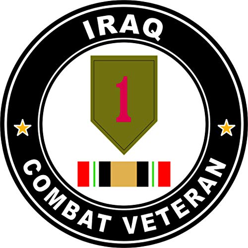 Military Vet Shop Magnet US Army 1st Infantry Division Operation Iraqi Freedom Combat Veteran Vinyl Magnet Car Fridge Locker Metal Decal 3.8