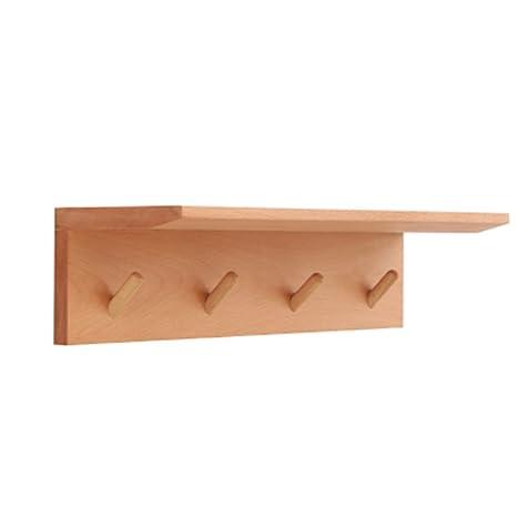 AA + Perchero montado en la pared, perchero de madera maciza ...