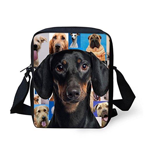 IDEA Messenger Mini Women's Dog Dachshund Pattern Cute Bags Small HUGS Handbag Shoulder Adg4wH4q