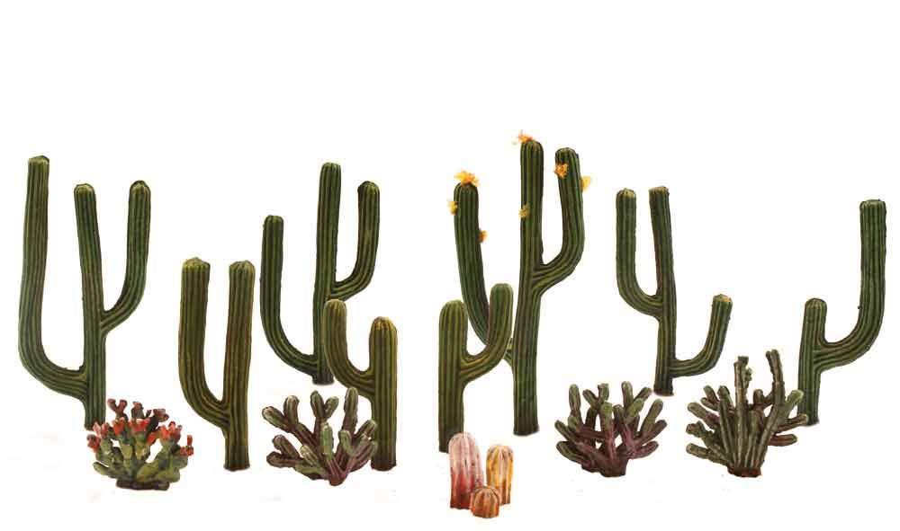 auf 2,5 Woodland Scenics Kunststoff Kaktus Pflanzen