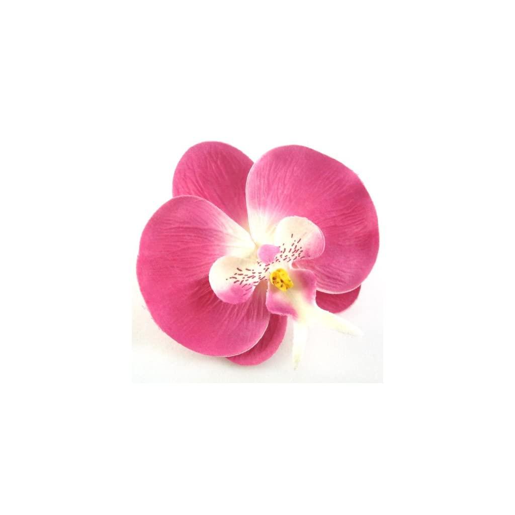 10-Pink-Phalaenopsis-Orchid-Silk-Flower-Heads-375-Artificial-Flowers-Heads-Fabric-Floral-Supplies-Wholesale-Lot-for-Wedding-Flowers-Accessories-Make-Bridal-Hair-Clips-Headbands-Dress