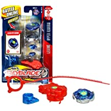 Beyblade Hasbro Year 2010 Metal Fusion High Performance Battle Tops - Attack 105F Bb21 Legend Hyper Aquario With Face Bolt, Energy Ring, Wheel, Low Profile 105 Spin Track, Flat F Tip And Ripcord Launcher Plus Online Code