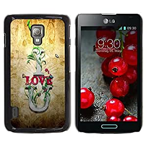Be Good Phone Accessory // Dura Cáscara cubierta Protectora Caso Carcasa Funda de Protección para LG Optimus L7 II P710 / L7X P714 // I Love U Quote Slogan Romance Relationship