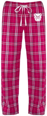 CollegeFanGear Butler Ladies Dark Fuchsia//White Flannel Pajama Pant Bulldog Head