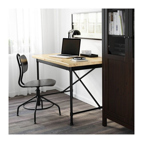 Ikea Desk, pine, black 26386.20817.2020