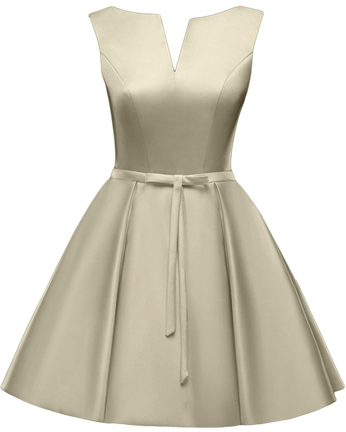 Ivydressing Chic V-neck Homecoming Gowns Lace-up Short Prom Cocktail Dresses
