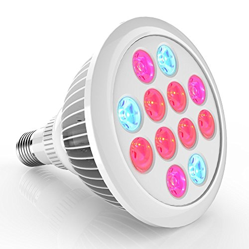 Erligpowht LED Grow Lights, 24W Plant Lights E27 Growing Bulbs 3 Wavelengths Tailored LED Grow Lamps for Garden Greenhouse, Hydroponic and Family Balcony