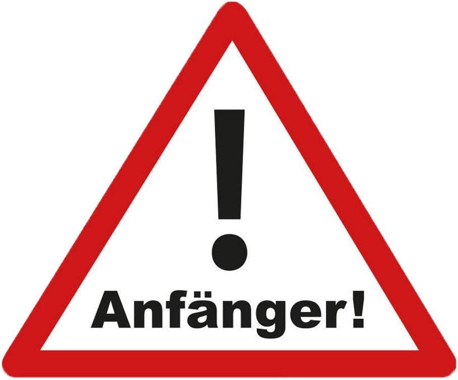 Aufkleber Vorsicht Anfänger Warnschild Autoaufkleber Waschstrassenfest Uv Beständig Premium Edition Auto