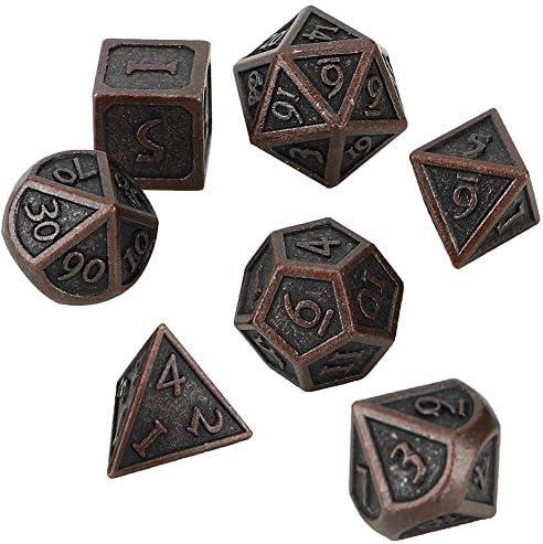 Duidelijke metalen dobbelstenen kwaliteit metalen materiaal Polyhedral dobbelstenen met metaal