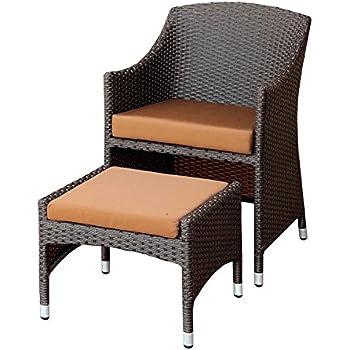Amazon Com Olivanne 2 Piece Espresso Wicker Arm Chair