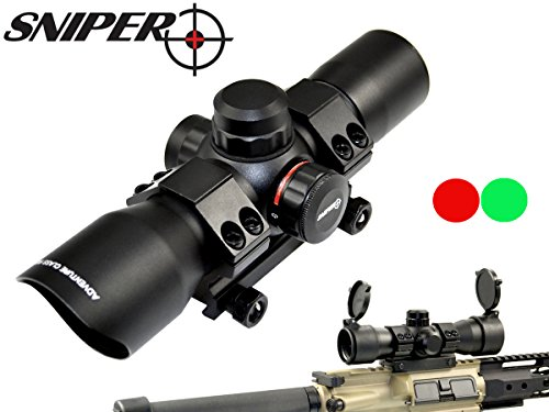 SNIPER  Compact Scope Red/green Dot, Superior quality precision lens, Aircraft, One Tube Build up, Ring Mount Include