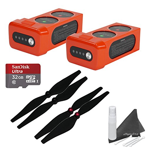 Autel Robotics X-Star Premium Accessory Bundle: Includes 32GB SanDisk MicroSD Card + 2 X-Star Batteries (25 Min Flight Time Each) + 2 Sets of Propellers + eDigitalUSA Cleaning Kit