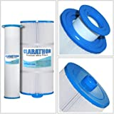 Clarathon Spa Filter replacement for Sundance 6541-397 Pleated Outer Filter plus Microclean Inner Core Cartridge 880