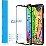 iPhone X Screen Protector, ZOETOUCH for iPhone X ( 5.8 Inch ) Tempered Glass Protective Film Full Coverage Glass Screen Protector HD Ultra Slim Easy-Use Bubble-Free Unbreakable Protective Film Black