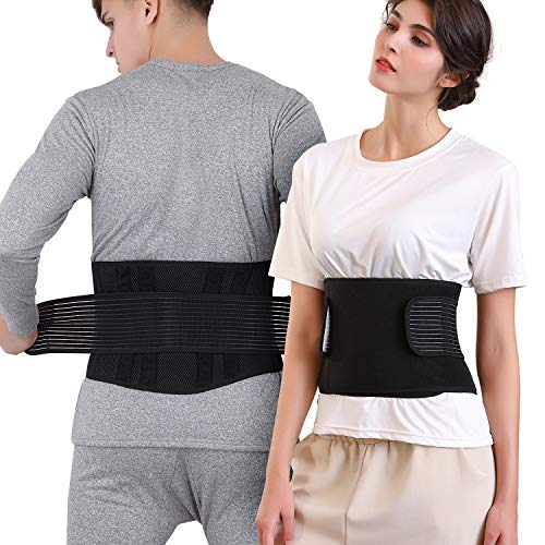 Hapord Back Brace Lower Lumbar Support Belt Lower Back Support Adjustable for Men and Women Breathable Mesh Design with…