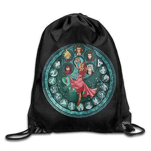 Final Fantasy VII Pedestal Nylon Drawstring Sack Bag Home Travel Sport Storage Draw Pedestal