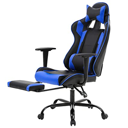 Wondrous Executive Swivel Leather Racing Style High Back Gaming Office Chair With Lumbar Support And Headrest Pdpeps Interior Chair Design Pdpepsorg