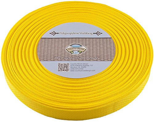Country Brook 1-Inch Polypropylene Webbing, 100-Yard, Yellow