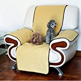 NACOCO Dog Sofa Chair Cover Protector Pet Reversible Soft Slipcovers Set Cushion for Dog and Child (Yellow)