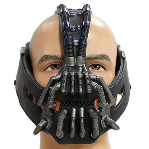 XCOSER Men's Bane Mask Costume Props TDKR Full Adult Size - 3D Version V9 (Dark Knight Rises Bane Halloween Mask)