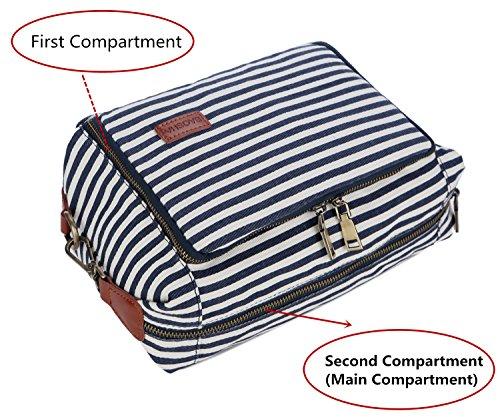 BAOSHA XS-04 Canvas Travel Toiletry Bag Shaving Dopp Case Kit for Women and ladies (Blue) by BAOSHA (Image #2)