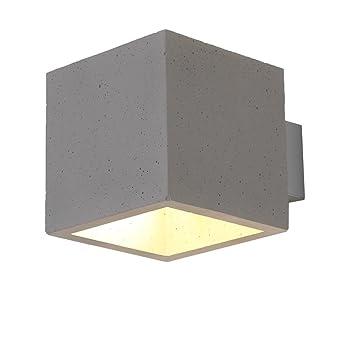 Concreto Lámpara de techo LED 5w Focos de techo BLOQUE 230v Luz de hormigón 13x13cm Moderna