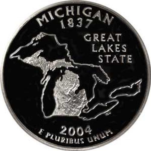 2004 Michigan S Gem Proof State Quarter US Coin