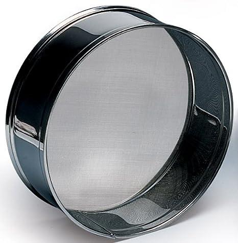 Black Martellato SETAC 30 Stainless Steel Sieves for Flour 30 cm